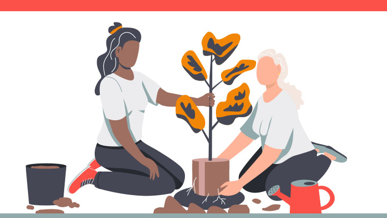 Tree planting employee benefit